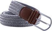 Elastische Geweven Riem Gevlochten Riem Rekbaar Stripes Zwart/Wit