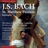 Bach; St. Matthew Passion Highlights