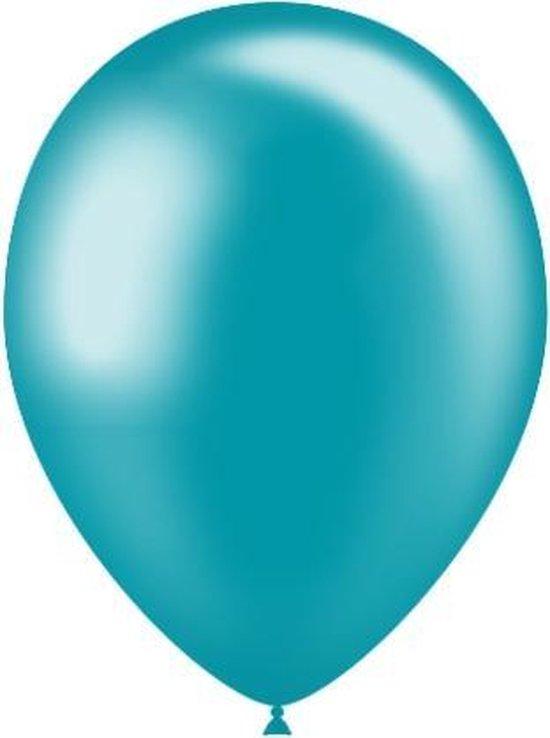 Turquoise Ballonnen Metallic 25cm 10 stuks