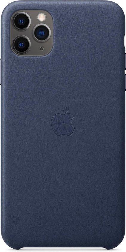 Apple Leren Hoesje voor iPhone 11 Pro Max - Blauw