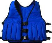 Gewichtsvest 5 kg - blauw - verstelbaar