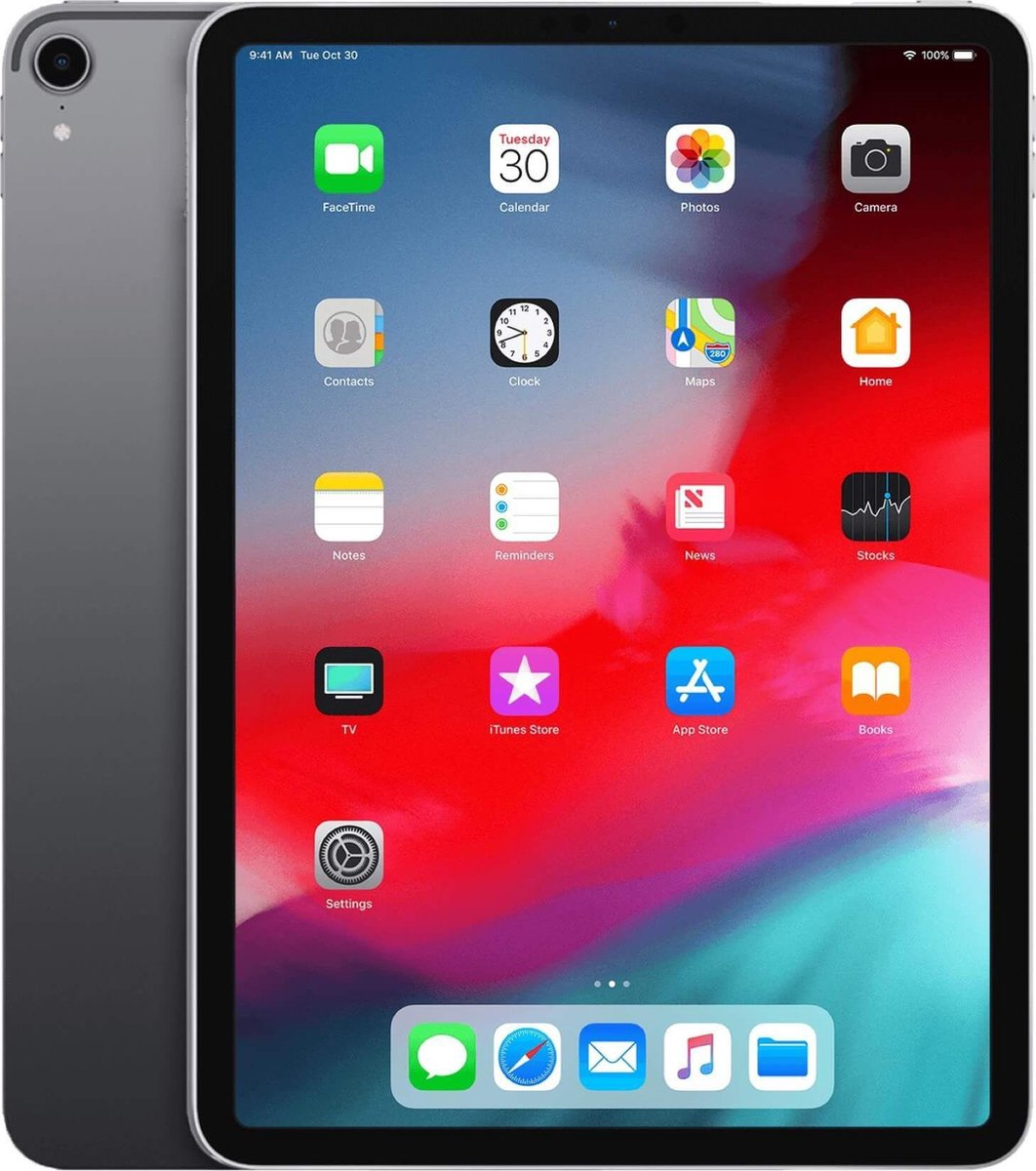 iPad Pro 12.9 Inch (2018 Versie) 64GB Space Grey Wifi + 4G - A grade