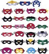 Fissaly® 31 Stuks Superhelden Maskers voor Kinderfeest & Verkleed Partijen – Super Hero Kostuum