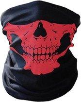 Balaclava Gezicht Shield Tactische Masker Rood 3D Schedel Sport Nek Warm Motor Masker Volgelaatsmasker Winddicht Motorfiets Mondkap Ski Outdoor Sport