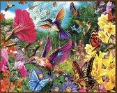Vogels vlinders en bloemen - Botanisch  40x30   ROND   44 kleuren    Pakket Volwassenen   Volledige Bedekking   natuur  Diamond Painting