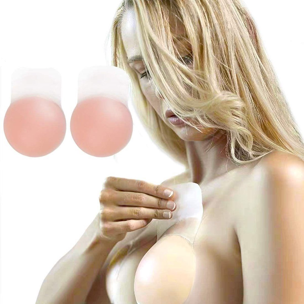 Phannie Zelfklevende Push-Up Tepelbedekkers Siliconen - Hoge Kwaliteit -Tepelcovers - Plak BH Push U