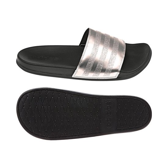 | adidas Adilette Comfort slippers dames zwart