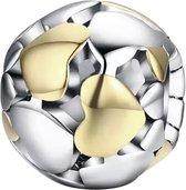 Zilveren Bedels Liefde | Bedel Hartjes Bol | Zilver en goud | 925 Sterling Zilver | Bedels Charms Beads | Past altijd op je Pandora armband | Direct snel leverbaar | Miss Charming