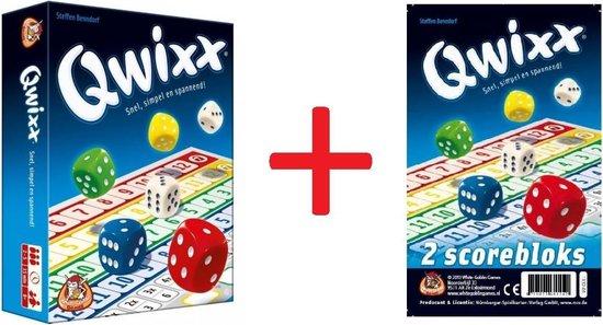Afbeelding van het spel Qwixx set - Dobbelspel - met 2 extra scoreblocks