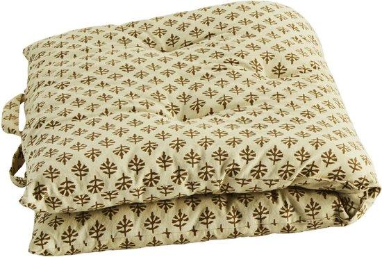 Madam Stoltz kussen matras patroon off white/brons 100 x 60