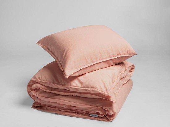 Yumeko Overtrekset washed katoen satijn roze 140x220 + 1/60x70