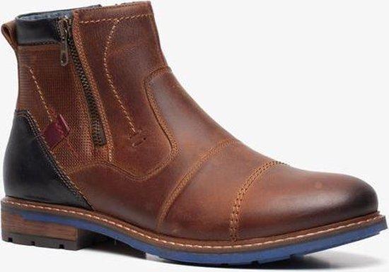 Van Beers leren heren boots - Cognac - Maat 43