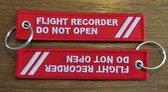 Flight Recorder Do Not Open sleutelhanger