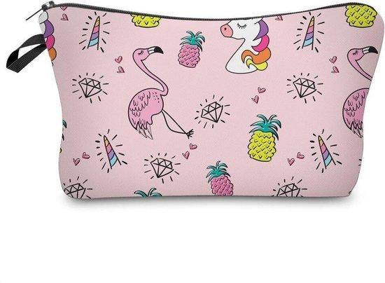 Unicorn / Flamingo Etui - Ideaal als Etui voor school of Toilettas voor kinderen