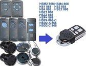 BELIFE® Universele handzender voor Hörmann  HSM2 | HSM4 | HS1 | HS2 | HS4 | HSE2 | HSZ1 | HSZ2 | HSP4 | HSD2-A | HSD-C | 868Mhz | Blauwe toetsen