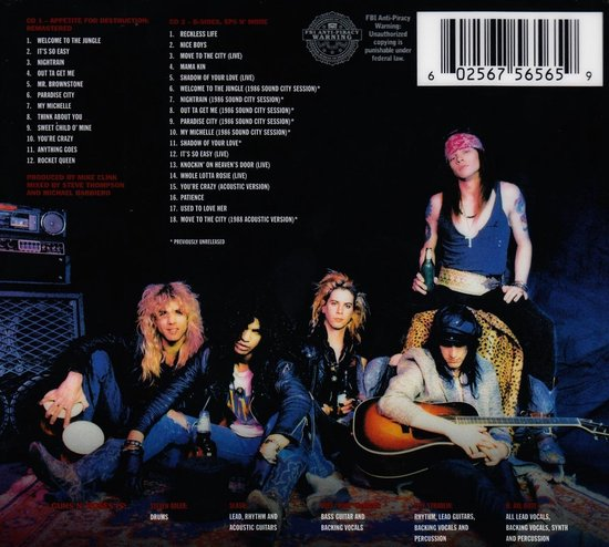 Appetite For Destruction (2CD Deluxe) (Limited Edition) - Guns N' Roses