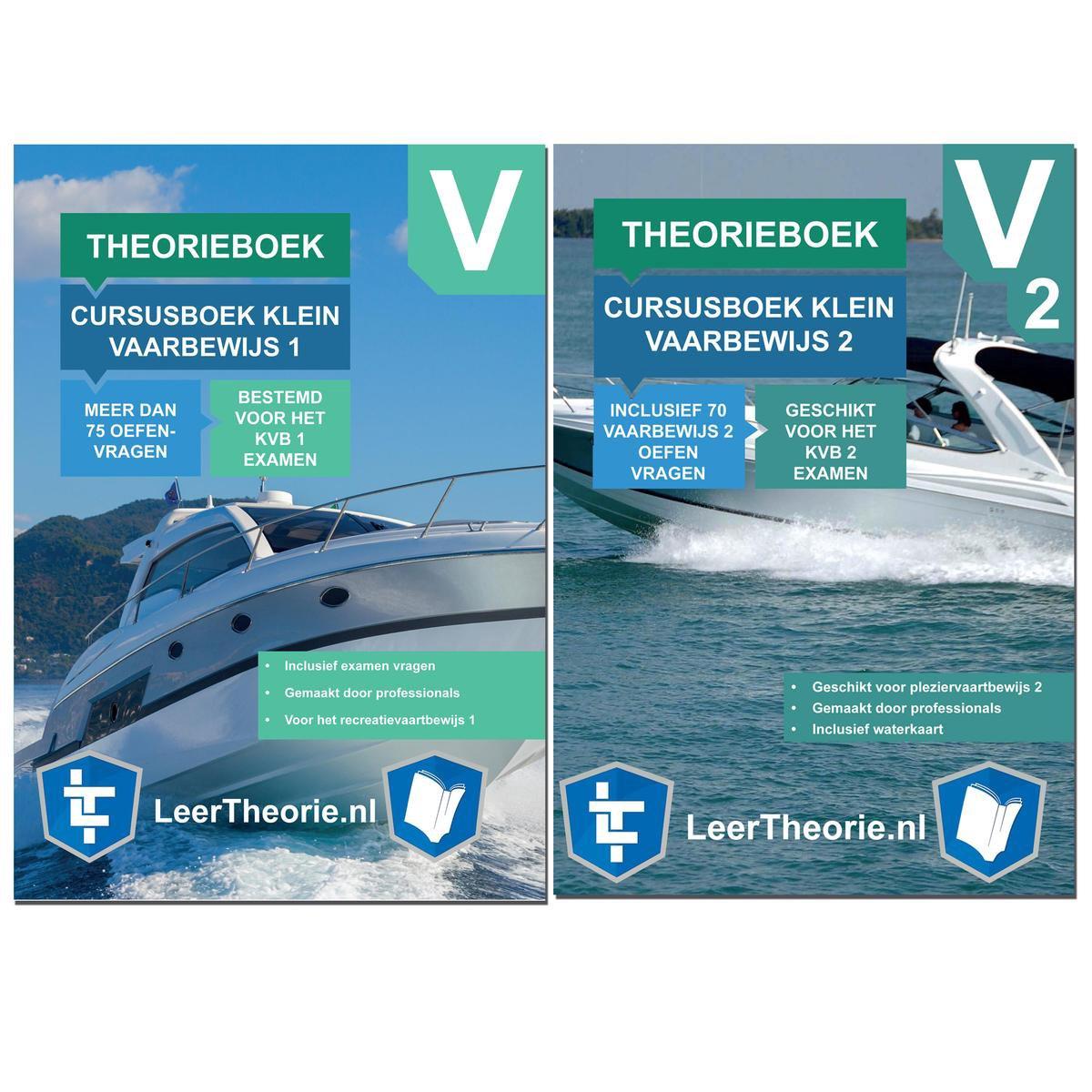 Klein Vaarbewijs 1 en 2 2021   Theorieboek voor het KVB 1 en KVB 2   Pleziervaartbewijs Leren en Oef