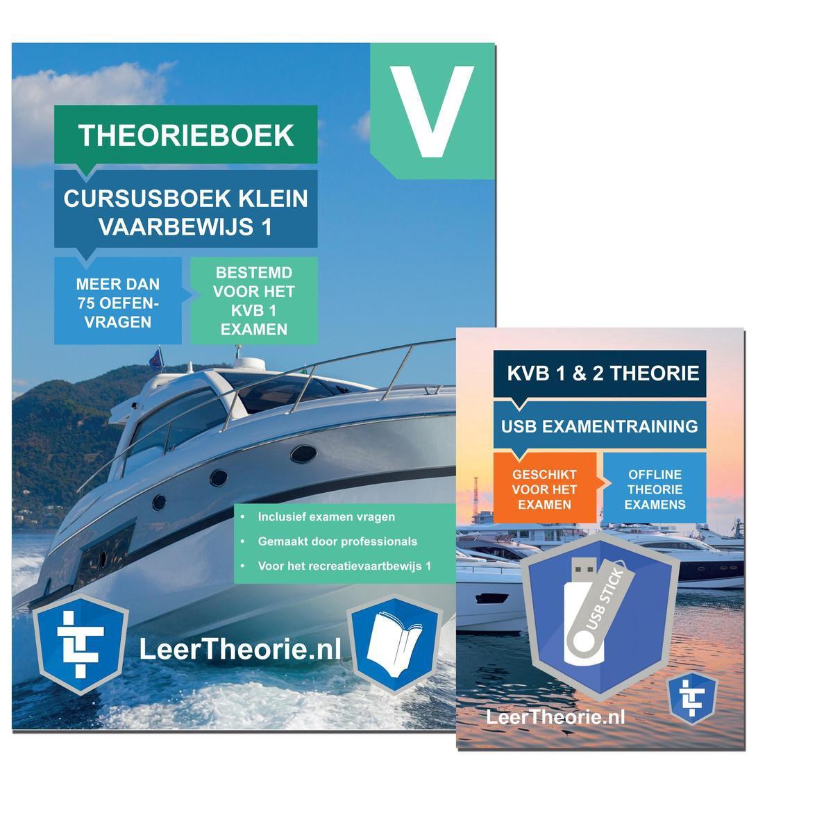 Vaarbewijs 1 2021 - Theorieboek Vaarbewijs 1  - USB Stick Vaarbewijs Theorie Oefen Examens voor het
