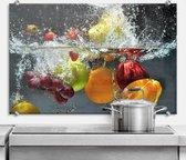 Glazen Spatscherm Verfrissend Fruit 100x70cm - Keuken Achterwand - inclusief luxe wandklemmen