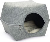 Cat cave yuit felt, grey 46 cm