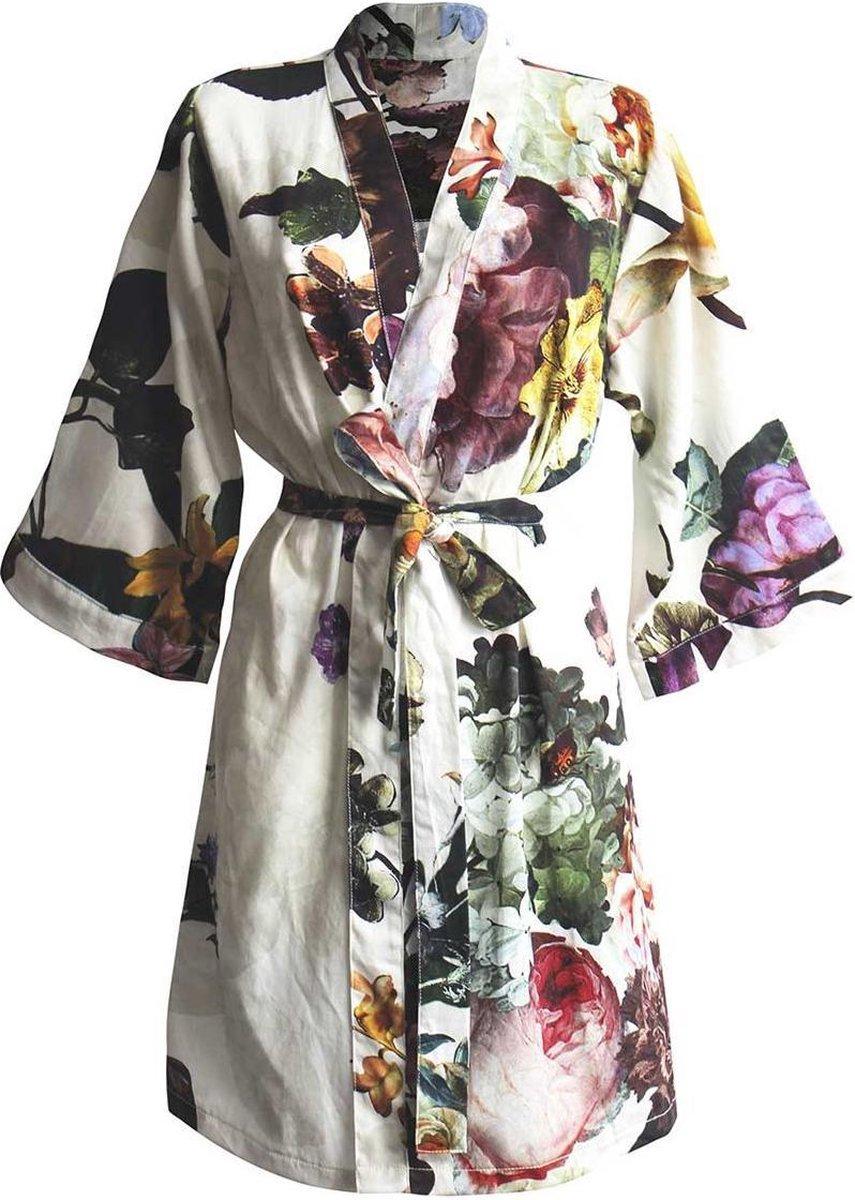 Essenza Dames Nachtmode kimono S - Ecru
