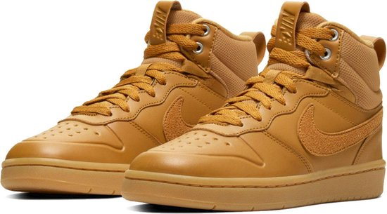 Nike Court Borough Mid 2 Boot (Gs) Heren Sneakers - Wheat/Wheat-Gum Med Brown - Maat 38,5