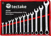 TecTake - 12 delige steeksleutel set ringsleutel set - rood - 402389