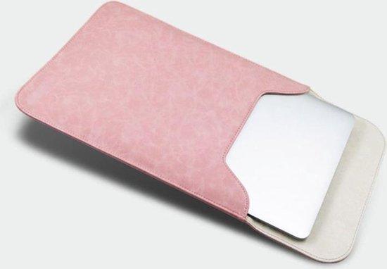 Let op type!! 13 3 inch PU + nylon laptop tas Case Sleeve notebook draagtas  voor MacBook  Samsung  Xiaomi  Lenovo  Sony  DELL  ASUS  HP (roze)