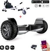 Evercross Challenger Basic 2019 Best 8.5 inch SUV Hoverboard met APP Functie 700W Motion V.12 Bluetooth speakers en met TAOTAO moederbord - Zwart + Hoverkart Wit