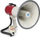Vonyx MEG050 - Megafoon 50W met opnamefunctie, sirene en losse microfoon
