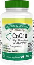 CoQ-10 (w/ BioPerine®) 100 mg (non-GMO) (120 Softgels) - Health Thru Nutrition