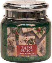 Village Geurkaars 'T is The Season | rode bes cassis cypres - Mini Jar