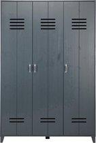 vtwonen Opberggigant Locker 3-Deurs - Granietgrijs - 186x123x40