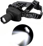 Zoombare Waterproof LED Hoofdlamp - 300 Lumen - Zwart