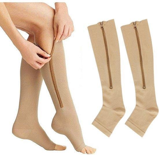 Compressie sokken S/M(35-39) - Compressie sokken zwanger - Compressie sokken - steunkousen kopen - Spatader sokken - Compressie koussen