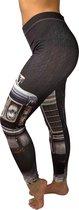 jtb-store - high waist sport legging yoga dames  - fantasy print  - maat M