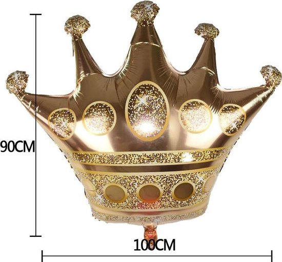 Folie ballon kroon 83 cm x 1 m