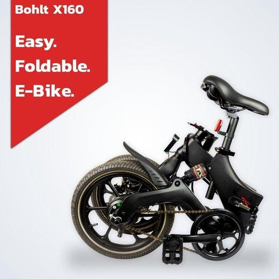 Bohlt X160 OR - Elektrische vouwfiets - Magnesium - Schijfremmen - Achtervering - LG accu