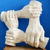 Gips Handenkrans 4 handen