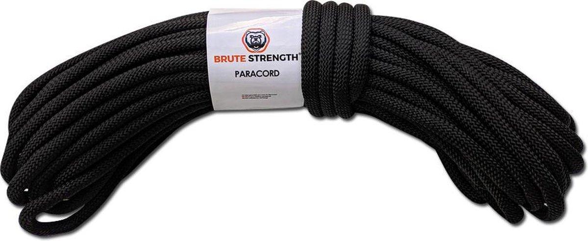 Paracord - Touw - 8 mm - 20 meter - Zwart - 920 kg trekkracht