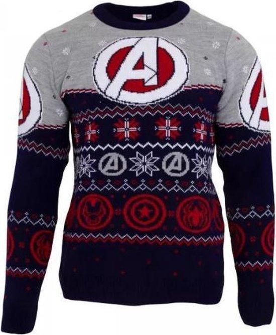 Marvel Avengers Logo Gebreide (foute) Kersttrui -  Unisex -L