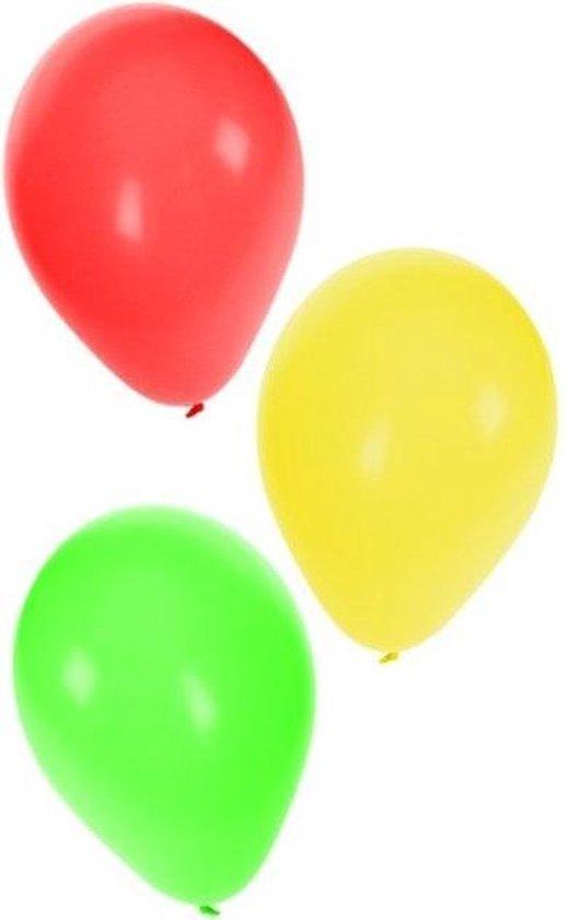 Ballonnen - Rood, geel & groen - 36st.