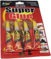 4 X Superlijm , super glue  extra strong 3 gram per tube
