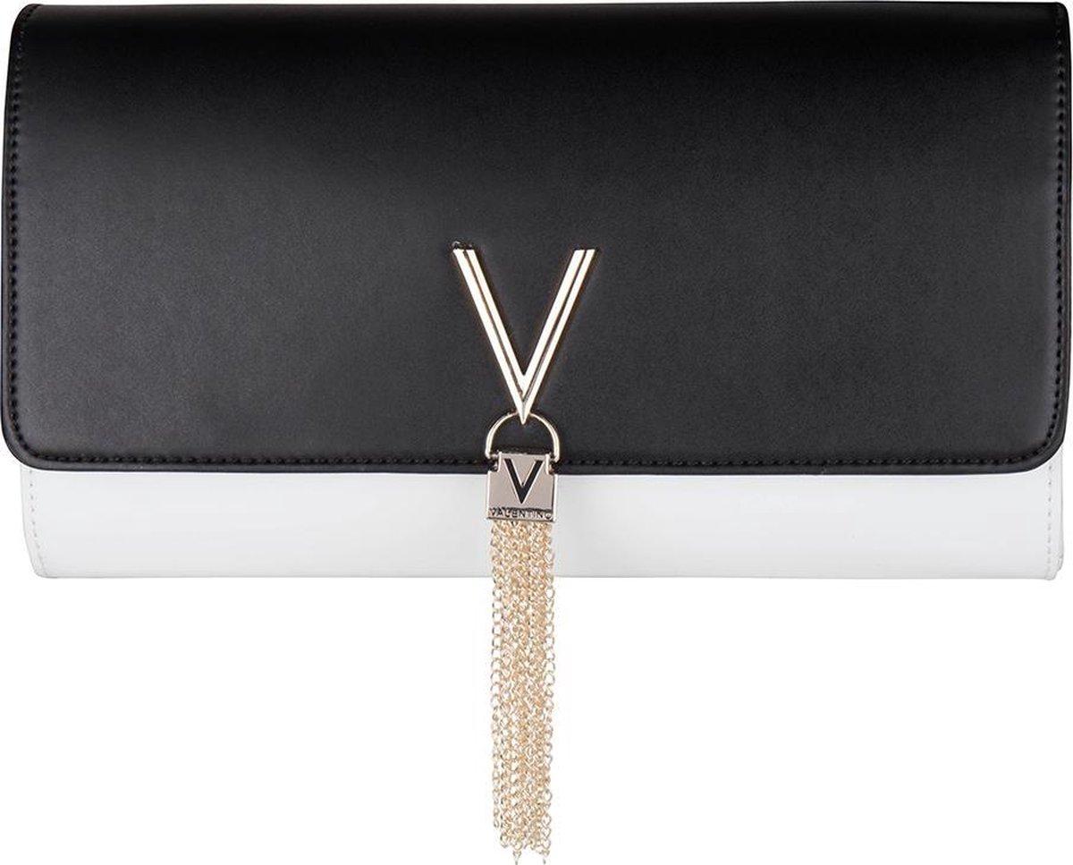 Valentino Bags Divina Bi Dames Clutch - Wit/Zwart - Valentino Bags