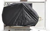 Hoogwaardige Zwarte Waterdichte Beschermhoes Voor 2 Fietsen - Geschikt Voor Dissel - Caravan - Camper - Fietsdrager - Fietsendrager - Bescherming Tegen Weer en Wind - Afdekhoes - Waterdicht - Waterafstotend - Afdekzeil - Hoes - Zwart - PK Automotive