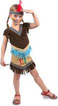 Indianen Jurkje Meisje 2delig- Verkleedkleding- Maat S