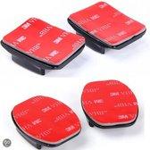 GoPro mount set - 2 x flat mount, 2 x curved mount