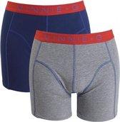 Vinnie-G boxershorts Flame Blue Grey 2-pack L