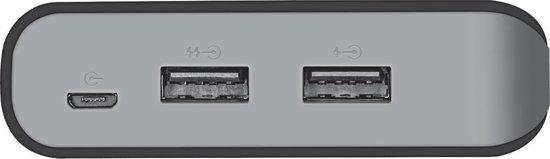 Trust Mobile Primo - Powerbank - 20.000 mAh - 2x USB  - Zwart