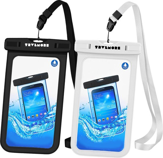 TravelMore Waterdichte Telefoon Hoes - Universeel - 2 Stuks